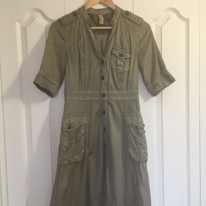 Anthropologie military shirt dress